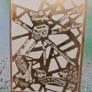 Contempo Vtg Paris Arc de Triumphe Au brooch pin